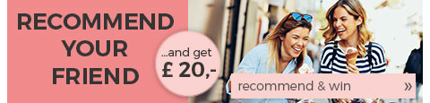 Recommend your friend and get a voucher worth £20!